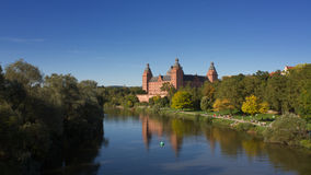 Aschaffenburg Palace overlooking the Main river Stock Photography