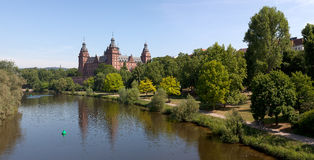 Aschaffenburg Schloss Panorama Stock Photos