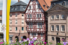 aschaffenburg stiftsplatz Royaltyfri Foto