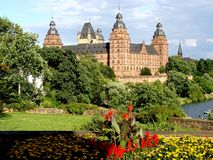 aschaffenburg zamku Fotografia Royalty Free