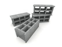 Asche-blockt Stockfoto