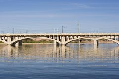 Aschen-Alleen-Brücke Lizenzfreies Stockfoto