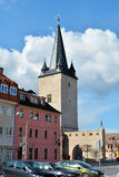 Aschersleben. Johannistorturm in the old town of Aschersleben royalty free stock photo