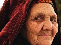 Aschgabat, Turkmenistan - 2. April Porträt von altem nicht identifiziertem Lizenzfreie Stockfotografie