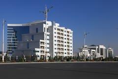 Aschgabat, Turkmenistan - 11. Oktober 2014: Ansicht über das neue buil Stockfotos
