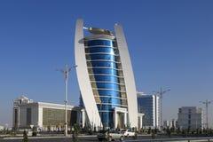 Aschgabat, Turkmenistan - 11. Oktober 2014: Ansicht über das neue buil Lizenzfreie Stockfotografie