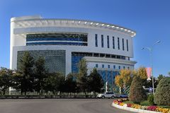 Aschgabat, Turkmenistan - 23. Oktober 2014 Das neue medizinische cente Stockfotografie
