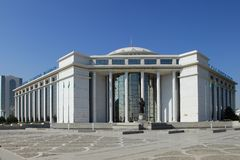 Aschgabat, Turkmenistan - 15. Oktober 2014: Moderne Architektur O Lizenzfreies Stockbild
