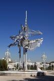 Aschgabat, Turkmenistan - 15. Oktober 2014: Skulptur in der Kunst Lizenzfreie Stockfotos