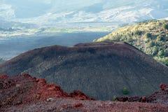 Aschkegel in Etna Park lizenzfreies stockbild