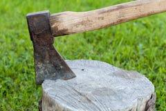 Ascia Handcrafted Immagini Stock