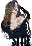 Ascii_fair_lady ilustração royalty free