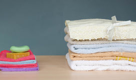 Asciugamani di bagno Immagini Stock Libere da Diritti