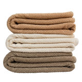 Asciugamani di bagno Isolato Immagini Stock Libere da Diritti
