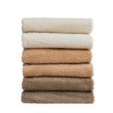Asciugamani di bagno in pila fotografie stock libere da diritti