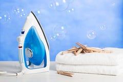 Asciugamani di recente lavati e Fotografie Stock