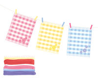 Asciugamani di tè Fotografie Stock