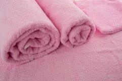 Asciugamani molli rosa Fotografia Stock Libera da Diritti