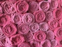 Asciugamani rosa della stazione termale Fotografia Stock