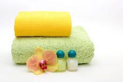 Asciugamani su un fondo leggero Fotografie Stock