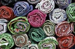 Asciugamani variopinti del cotone Immagini Stock Libere da Diritti