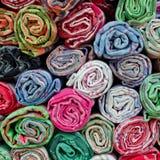 Asciugamani variopinti del cotone Immagine Stock Libera da Diritti