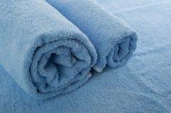 Asciugamano blu Immagine Stock