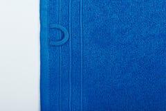 Asciugamano blu 2 Fotografia Stock