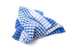 Asciugamano di cucina Isolato su priorità bassa bianca Fotografie Stock Libere da Diritti