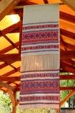Asciugamano fatto a mano tradizionale russo Fotografie Stock Libere da Diritti