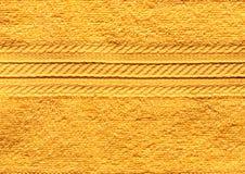 Asciugamano giallo Fotografia Stock