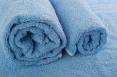Asciugamano molle blu Immagine Stock
