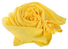 Asciugamano nella forma del fiore isolato su fondo bianco Fotografia Stock
