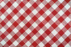 Asciugamano rosso e bianco Fotografia Stock Libera da Diritti