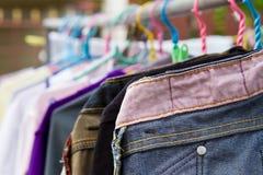 Asciughi i vestiti nell'aria Fotografia Stock Libera da Diritti