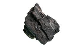 Asciughi il carbone per bruciare il fuoco su un fondo bianco Fotografia Stock Libera da Diritti