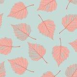 Asciughi il modello delle foglie Fotografia Stock