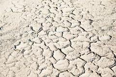 Asciughi la priorità bassa al suolo incrinata Fotografie Stock
