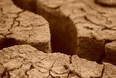 Asciughi la terra incrinata Immagini Stock Libere da Diritti