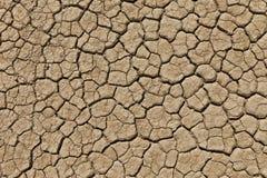 Asciughi la terra incrinata del deserto Fotografia Stock