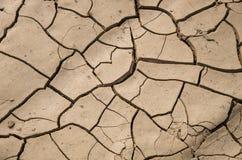 Asciughi la terra incrinata - deserto Fotografia Stock Libera da Diritti