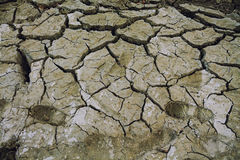 Asciughi la terra incrinata Sfondo naturale Fotografia Stock Libera da Diritti