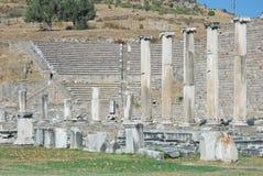 Asclepeion - altes Theater und ruines - die Türkei Lizenzfreies Stockbild