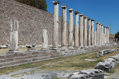 Asclepeion ancient city in Pergamon, Turkey. Royalty Free Stock Images