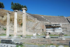 Asclepeion - Ancient theater and ruines - Turkey Royalty Free Stock Image