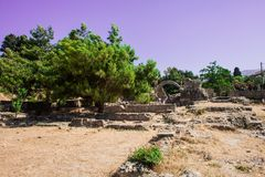 Asclepieion -古老Kos,希腊 库存照片