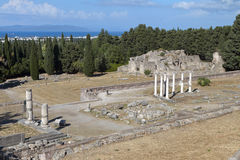 Asclepio ancient site at Kos island in Greece Stock Photography