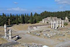 Asclepio at Kos island in Greece Stock Image