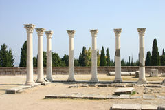 Asclepion, Faculdade de Medicina de Hippocrates, Kos, Greece Fotos de Stock