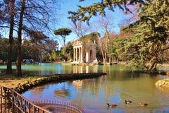 Asclepius寺庙,别墅Borghese 免版税库存照片